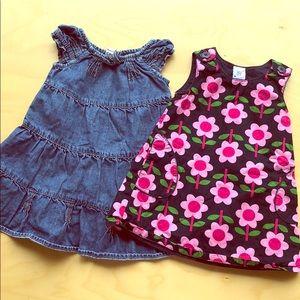 Baby gap flower and denim dress